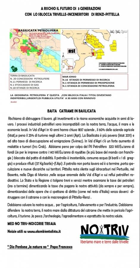 Richiesta un'inchiesta pubblica per ricerche idrocarburi nel Mar Jonio